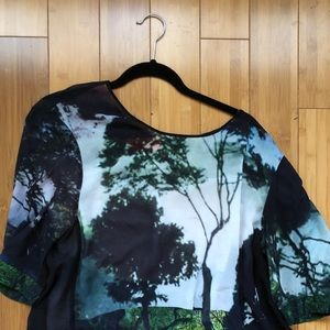 Clover canyon digital print top